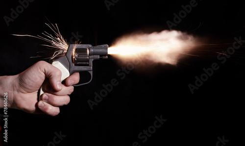 Leinwandbild Motiv gun shot