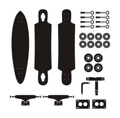 longboard kits - silhouette