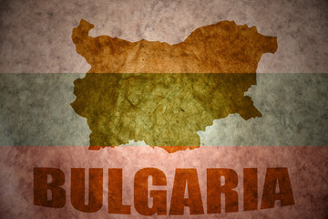 Vintage bulgaria map
