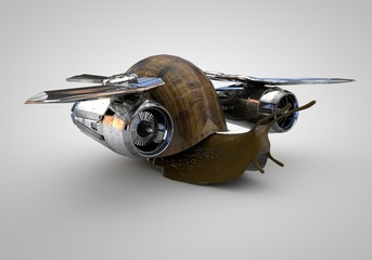 Snail with Jet Engines