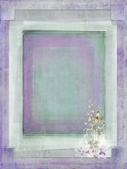textured slit corner frame with bridal bouquet