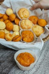 Homemade cheese muffins