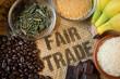 Leinwanddruck Bild - fair gehandelte Lebensmittel