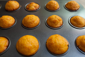Fresh baked salty muffins