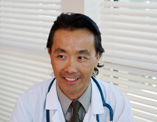 Close up of Asian physician