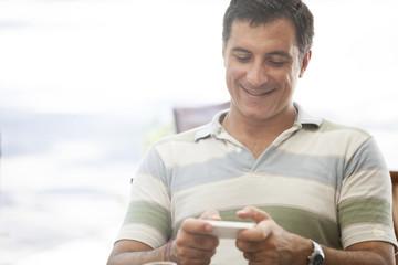 Mature Man Texting