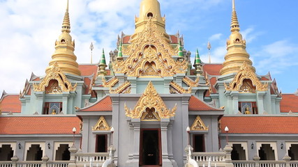 Beauty temple on summer in Thailand