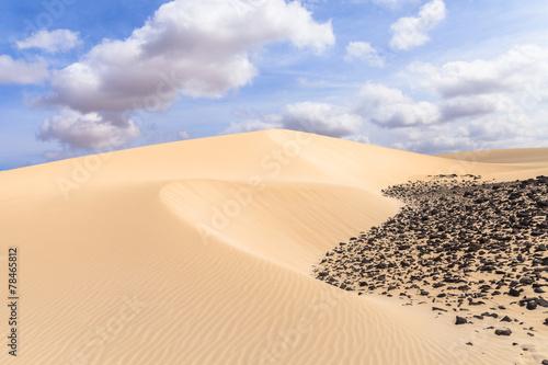 Fotobehang Woestijn Sand desert in Viana Boavista, Cape Verde