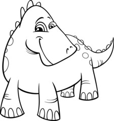 dinosaur or dragon coloring page