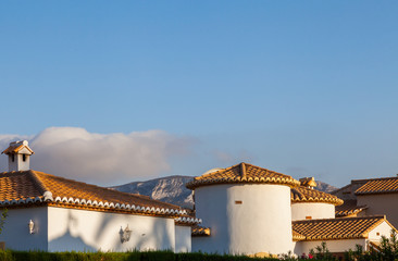 Village houses in a small Spanish town