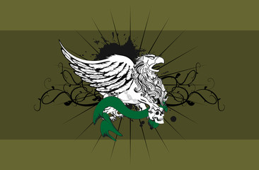 heraldic gryphon coat of arms background2