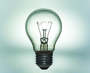 light bulb on Silhouette shape