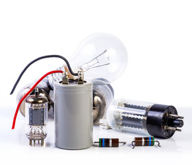 electronic component on white