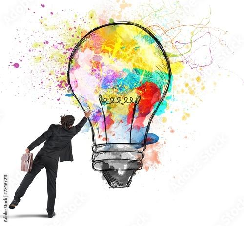 Colors a lightbulb - 78467211