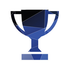 winner cup icon Abstract Triangle background