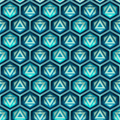 blue grid seamless pattern