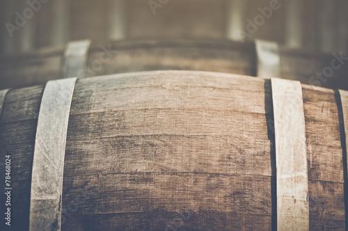 Wine Barrel with Vintage Instagram Film Style Filter - 78468024