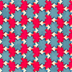 geometric flowers seamless pattern