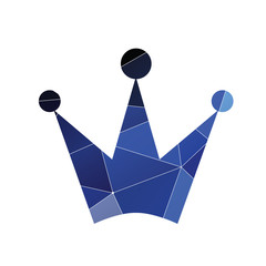 crown icon Abstract Triangle background