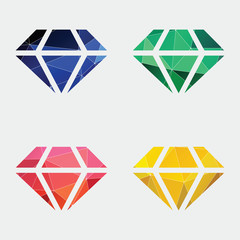 diamond icon Abstract Triangle background.