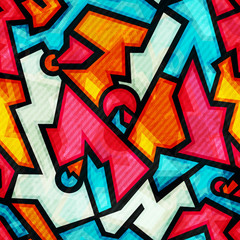 graffiti seamless pattern with grunge effect