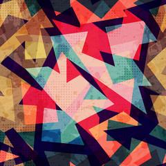 grunge geometric seamless pattern