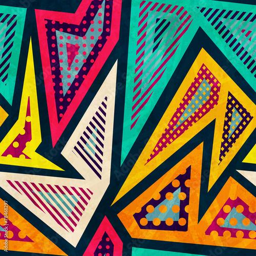 Keuken foto achterwand Kunstmatig hipster geometric seamless pattern