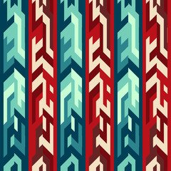 red totem seamless pattern