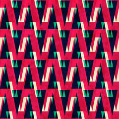 red triangle seamless pattern
