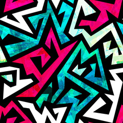 retro labyrinth seamless pattern with grunge effect