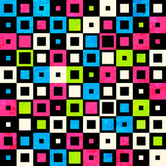 square neon seamless pattern