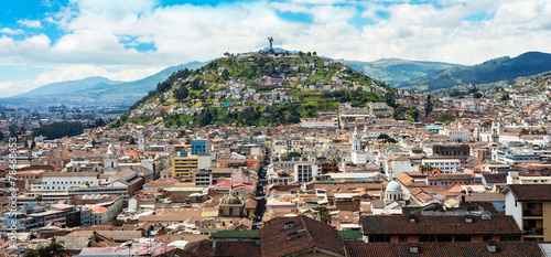 Historical center of old town Quito - 78468453