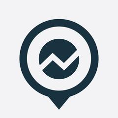 circle diagram icon map pin