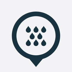 rain icon map pin
