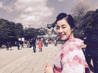 woman in kimono in kamakura