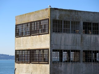 Empty and abandoned industrial warehouse building exterior