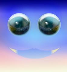 Cosmic vivacious smile