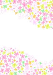 可愛い小花のフレーム