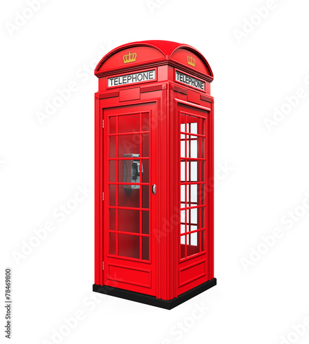 British Red Telephone Booth - 78469800