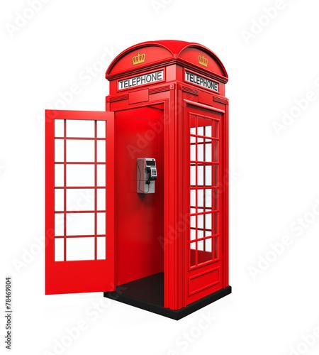 British Red Telephone Booth - 78469804