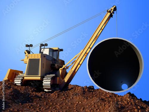 canvas print picture Pipeline