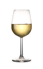 White Wine with clipping path