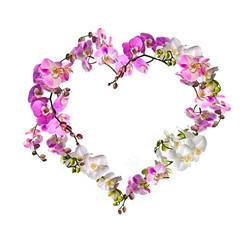 Ich liebe Dich: Herz aus Orchideenblüten :)