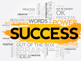 Success Word Cloud, business concept