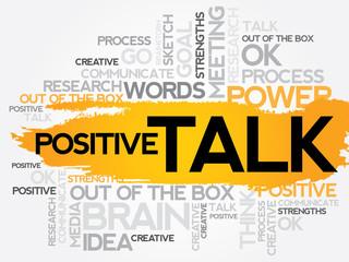 POSITIVE TALK word cloud, business concept