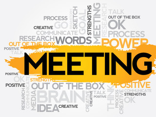 MEETING word cloud, business concept