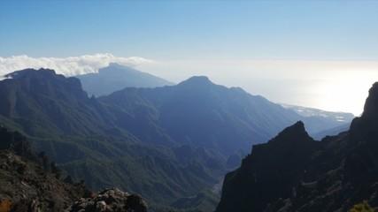 1080p. Majestic view at Roque De Las Muchachos, La Palma