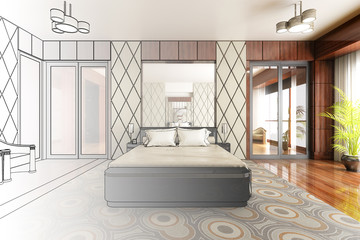 Classical Bedroom Design (procject)