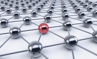 Network of spheres