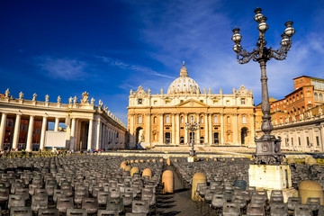 Saint Peter Cathedral in Vatican, Rome, Italy